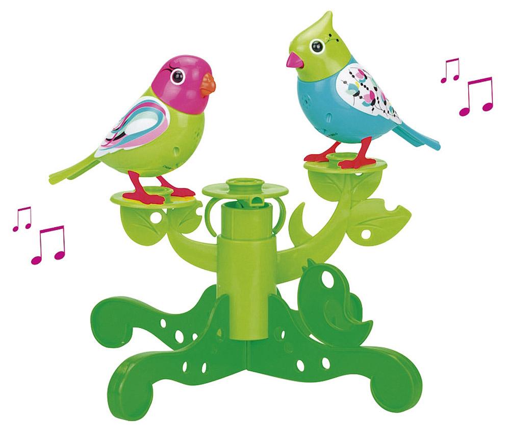 DigiFriends Интерактивная игрушка Птички на дереве цвет бирюзовый салатовый  #1
