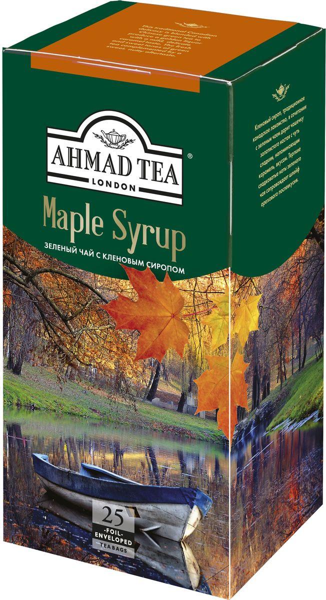 Ahmad Tea Maple Syrup зеленый чай в пакетиках, 25 шт #1