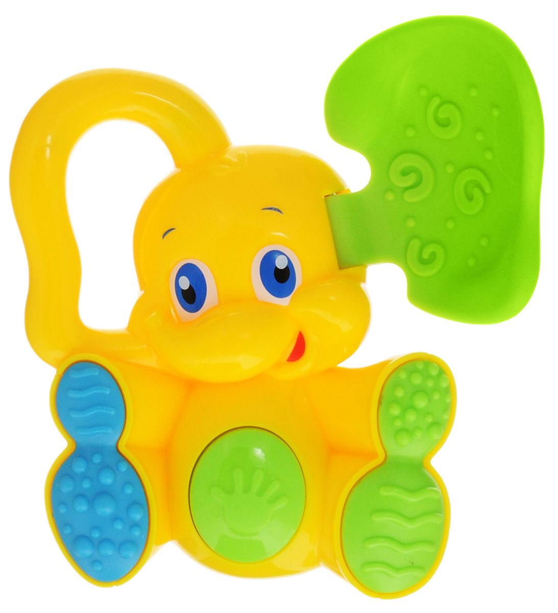 Bondibon Погремушка Слоненок с прорезывателем цвет желтый зеленый  #1