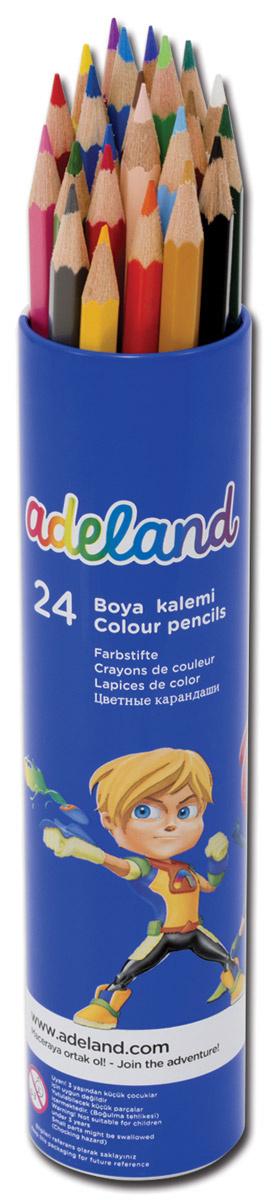 Adel Набор цветных карандашей Adeland 24 шт #1