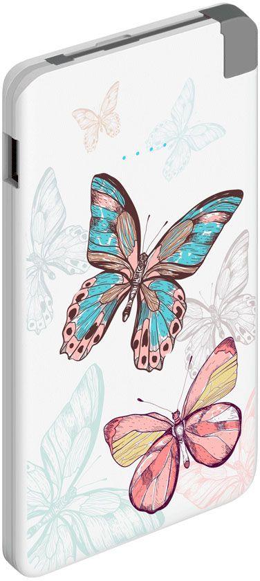 Deppa NRG Art Pastel Бабочки внешний аккумулятор (5000 мАч) #1