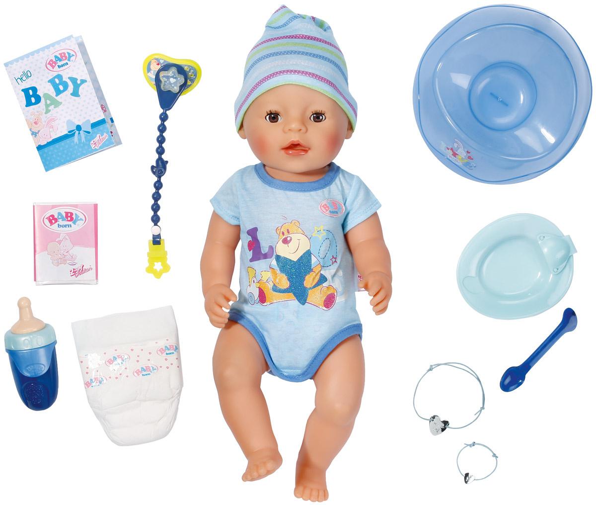 Baby Born Пупс цвет одежды серый голубой #1