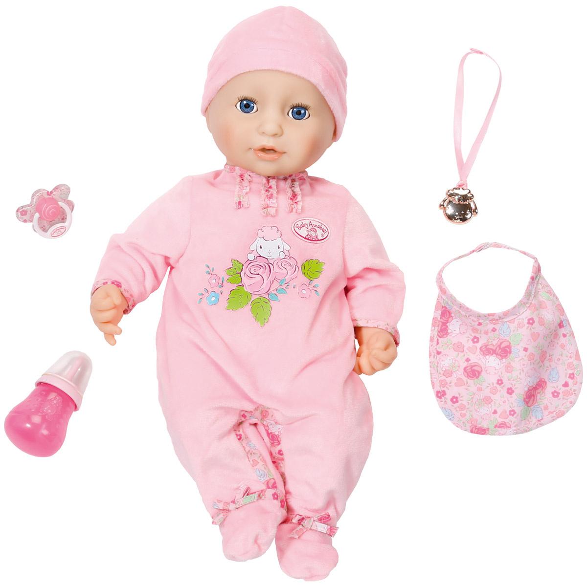 Baby Annabell Пупс с мимикой в розовом комбинезоне 794-821 #1