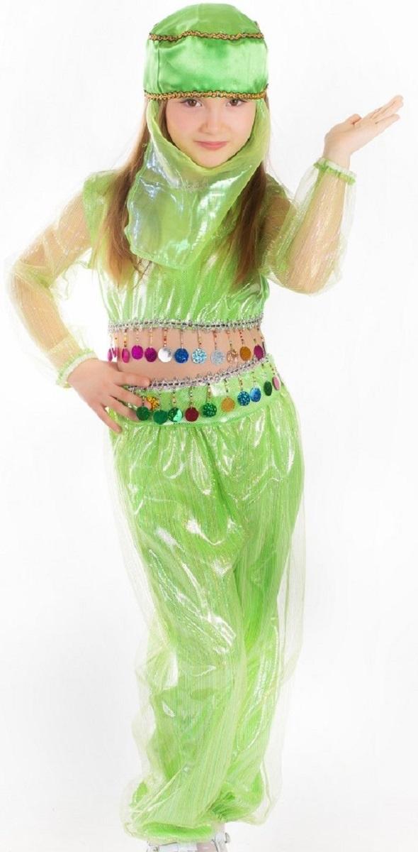 9567c14227e472f Карнавалия Карнавальный костюм для девочки Шахерезада цвет салатовый размер  134 — купить в интернет-магазине OZON с быстрой доставкой
