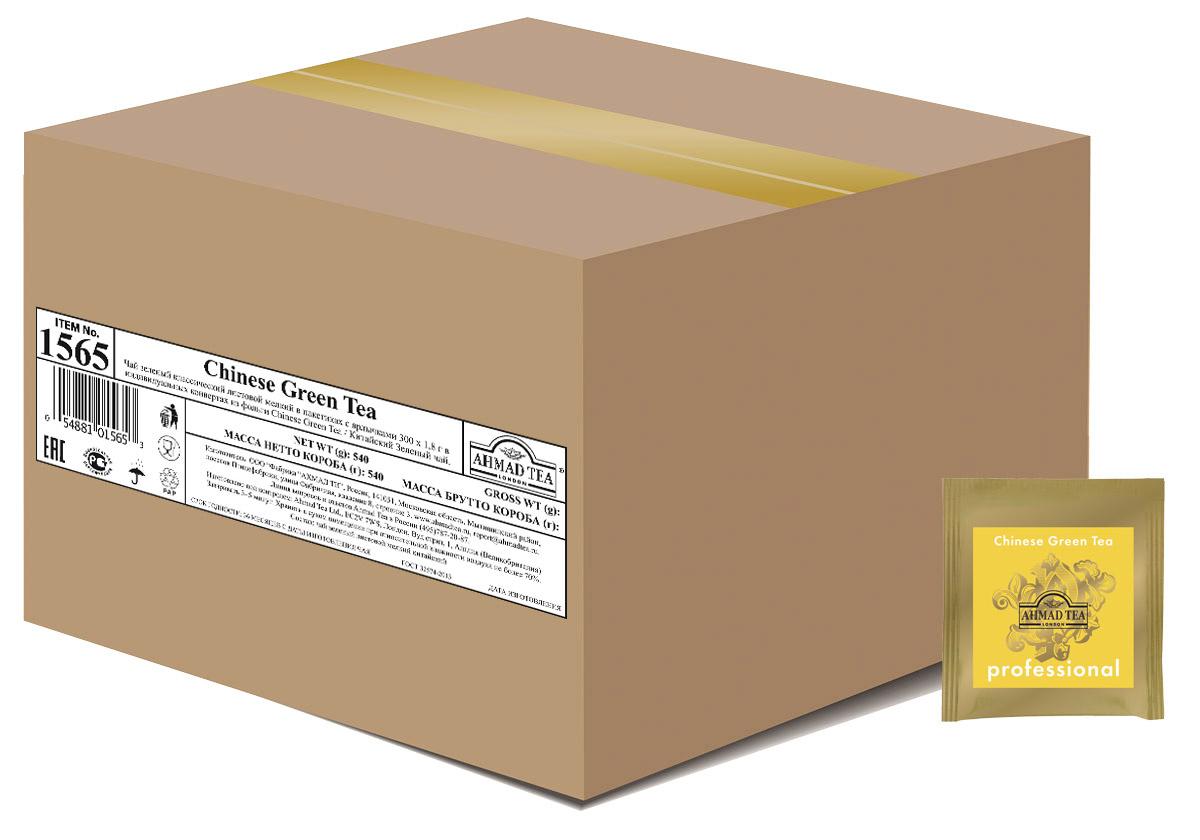"Ahmad Tea Professional ""Китайский"" зеленый чай в пакетиках, 300 шт #1"