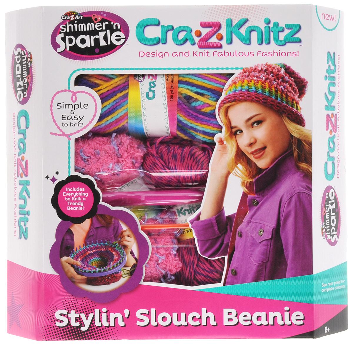 Cra Z Knitz набор для вязания стильная шапка колпак купить в