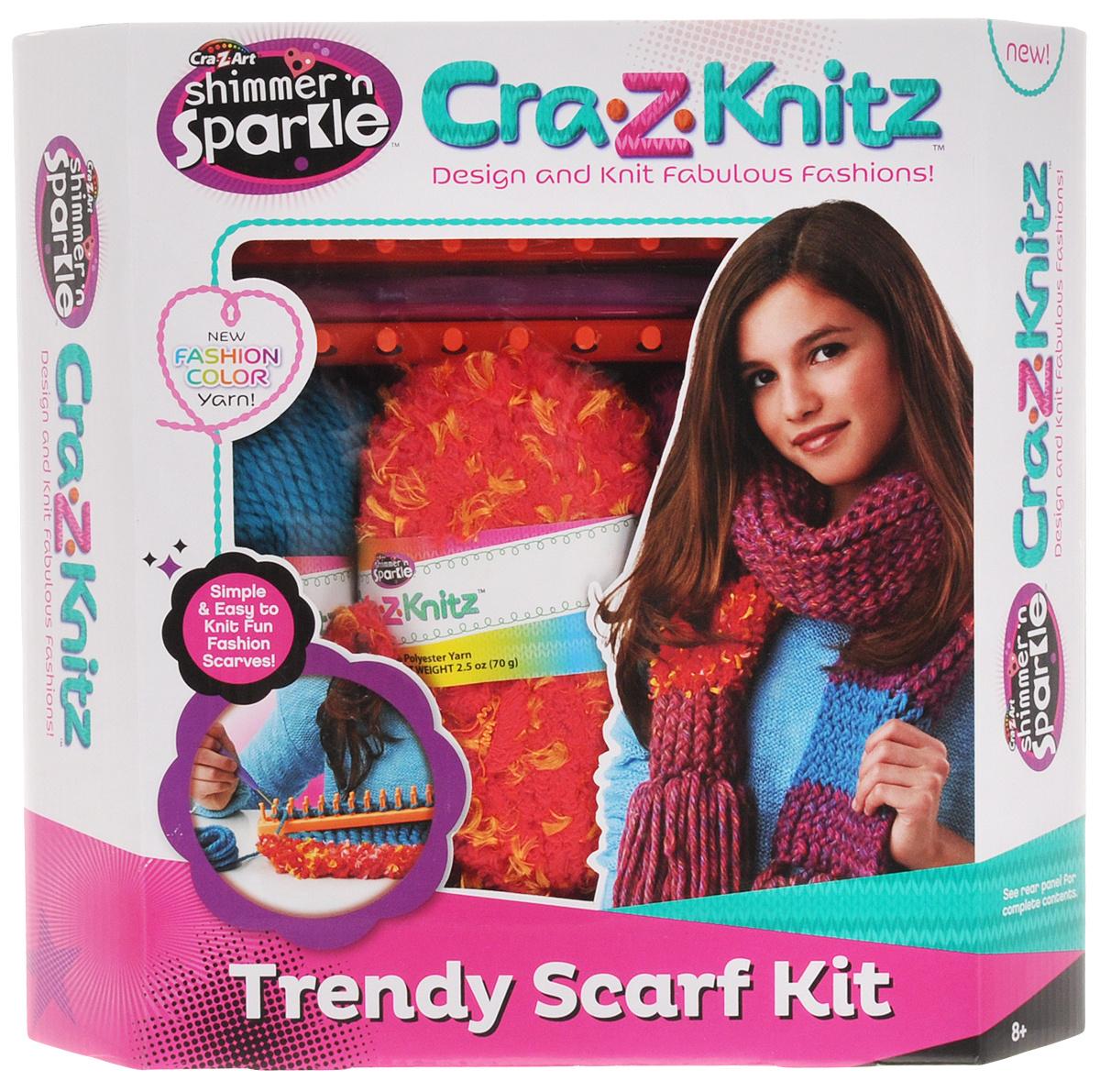 Cra Z Knitz набор для вязания шарф купить в интернет магазине Ozon