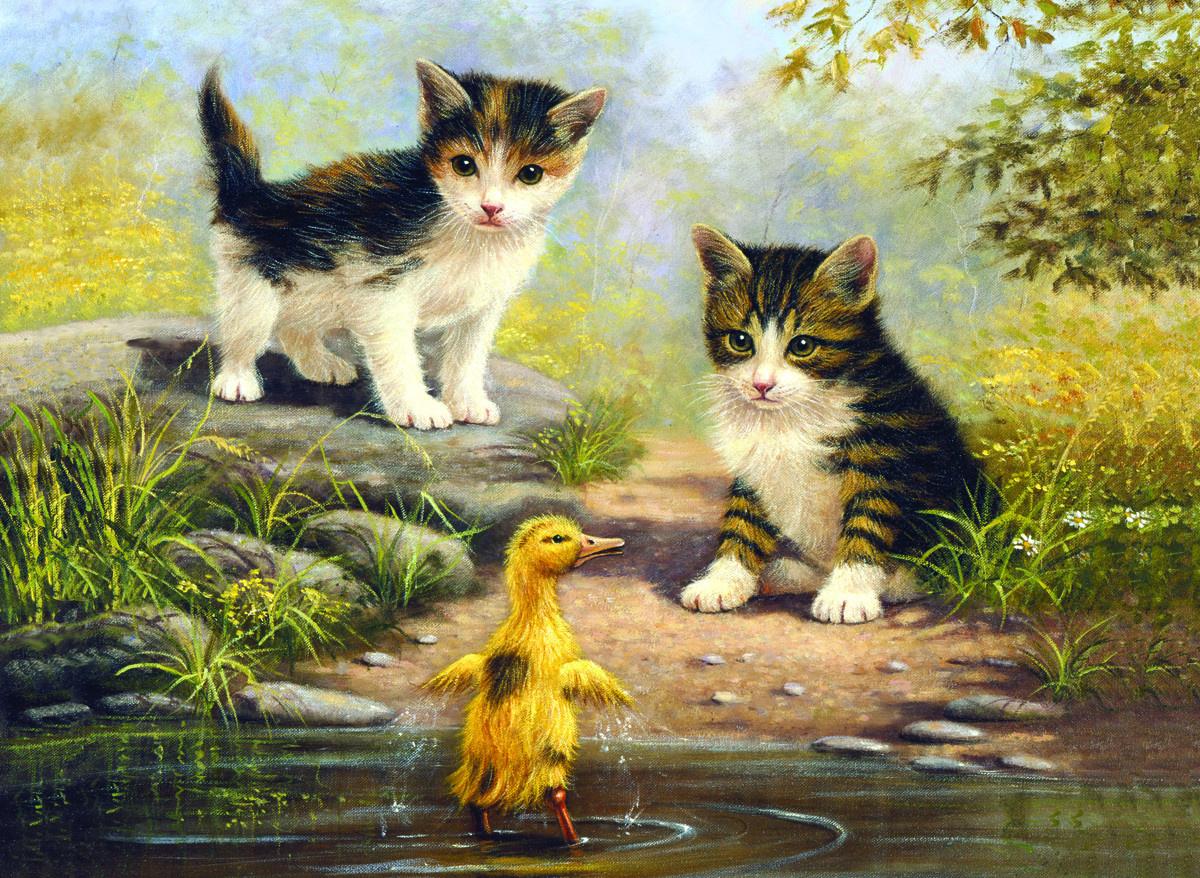 Royal & Langnickel Картина по номерам Котята и утенок ...