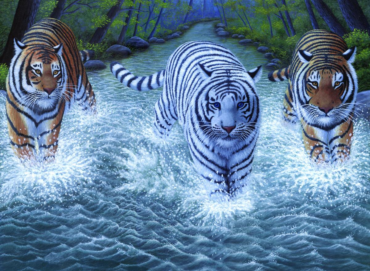 Royal & Langnickel Картина по номерам Три тигра — купить в ...