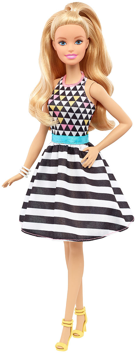 Barbie Кукла Fashionistas Геометричный принт #1