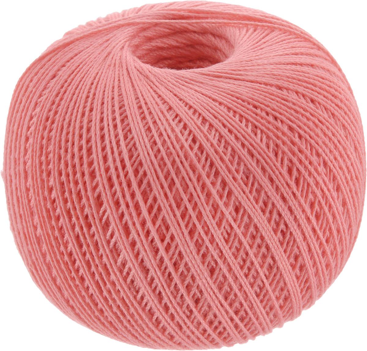 """Нитки вязальные """"Роза"""", хлопчатобумажные, цвет: кораллово-розовый (1012), 320 м, 50 г, 6 шт  #1"""