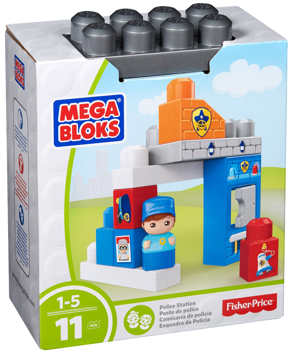 Mega Bloks Storytelling Конструктор Полицейский участок #1