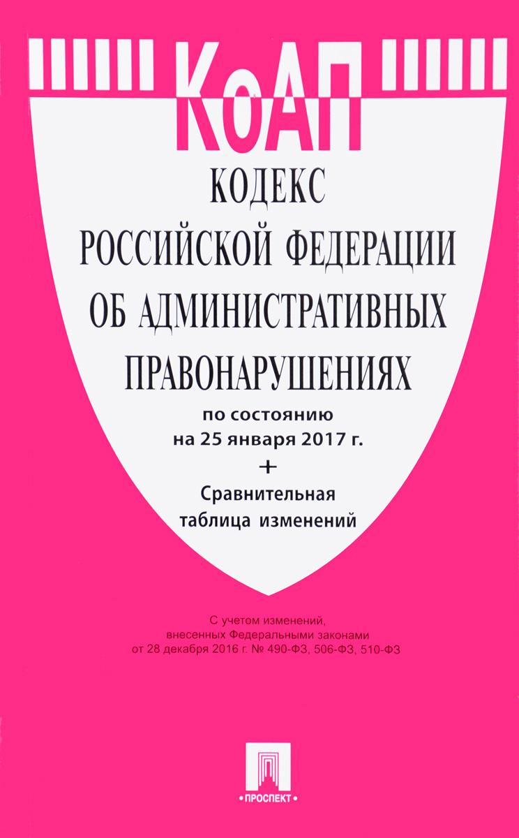 Кодекс Российской Федерации об административных правонарушениях: по состоянию на 25 января 2017 года #1
