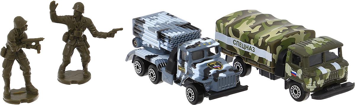 ТехноПарк Набор машинок Военная техника Омон и Спецназ  #1