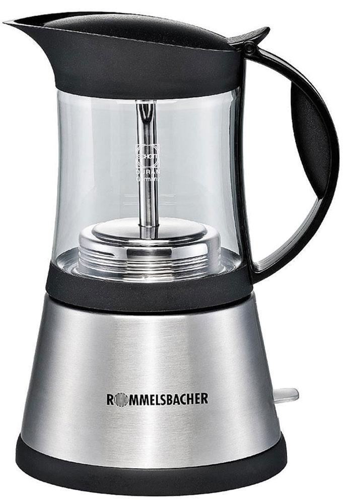 Кофеварка гейзерная электрическая Rommelsbacher EKO 376/G, Silver, эспрессо  #1