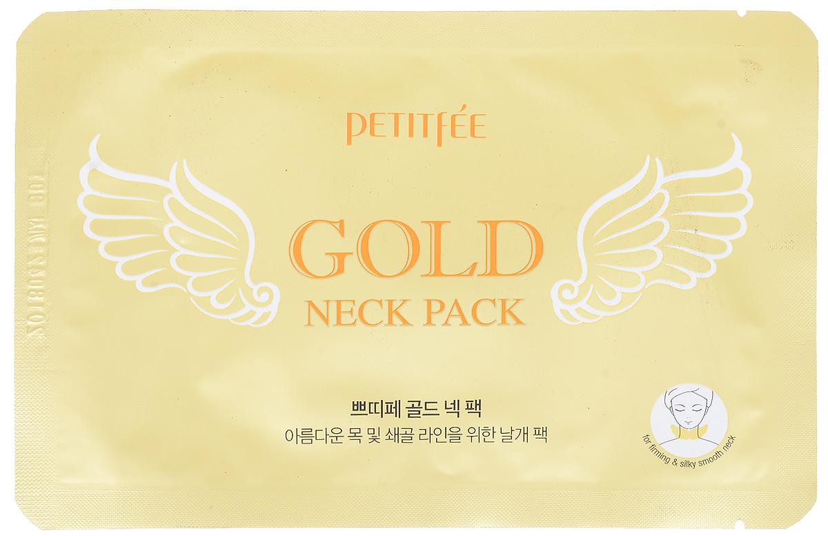 """PetitfeeГидрогелевая маска для шеи """"Золото и EGF"""" #1"""