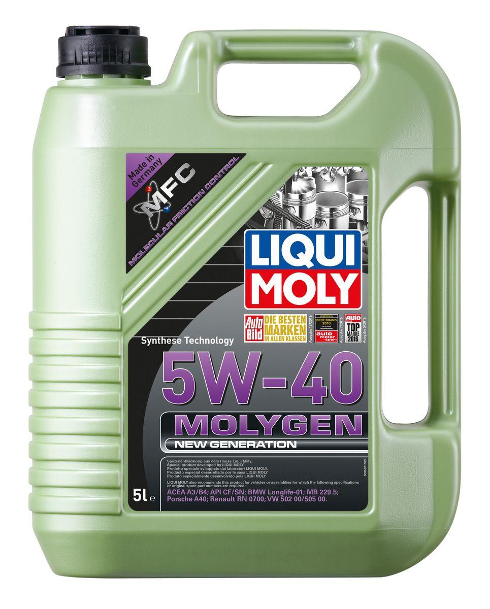 Моторное масло Liqui Moly MOLYGEN NEW GENERATION 5W-40 НС-синтетическое 5 л.  #1