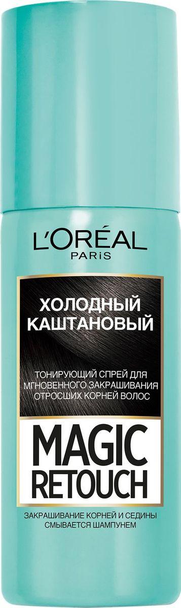 """L'Oreal Paris Тонирующий спрей для мгновенного закрашивания отросших корней """"Magic Retouch"""", оттенок #1"""