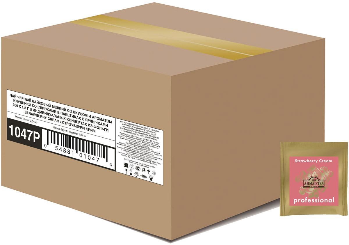 Ahmad Tea Strawberry Cream черный чай в пакетиках, 300 шт #1