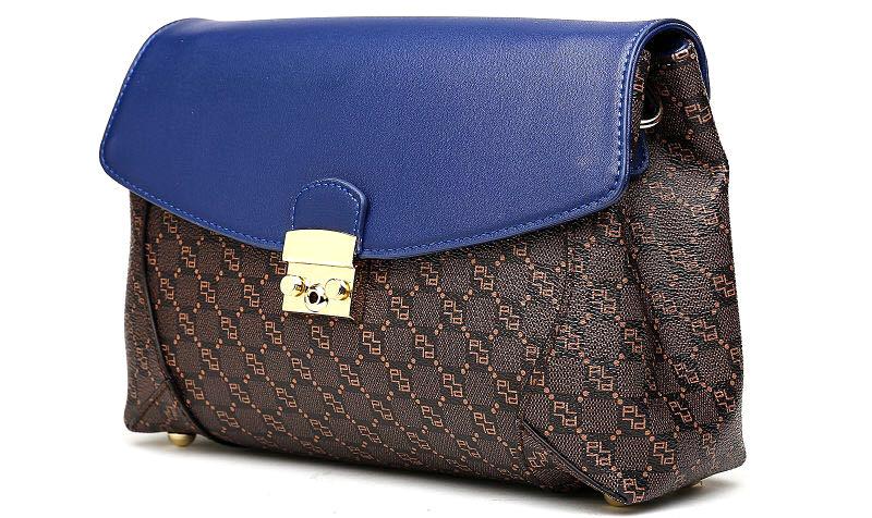 125c2f036028 Сумка женская Pola, цвет: темно-коричневый, синий. 61010 — купить в  интернет-магазине OZON.ru с быстрой доставкой