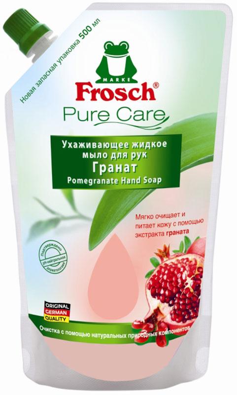 """Жидкое мыло для рук Frosch """"Гранат"""", сменная упаковка, 500 мл #1"""