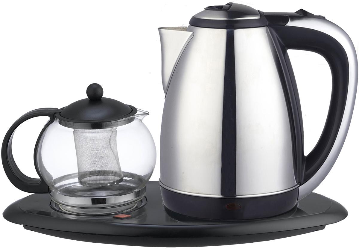 Электрический чайник IRIT Irit IR-1502 электрический чайник, серебристый, черный  #1