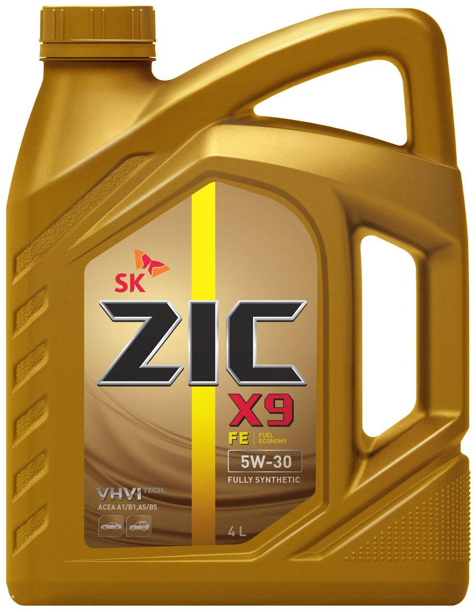 Моторное масло ZIC X9 FE 5W-30 Синтетическое 4 л #1