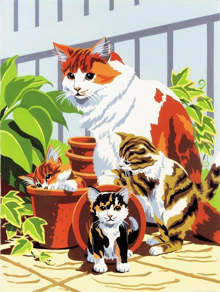 Royal & Langnickel Картина по номерам Кошка с котятами