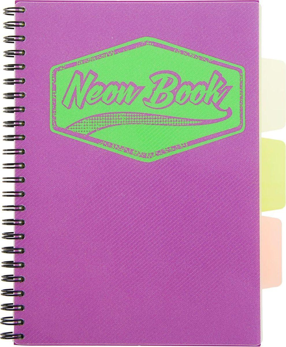 Expert Complete Тетрадь с разделителями Neon Book 120 листов в клетку цвет фиолетовый  #1
