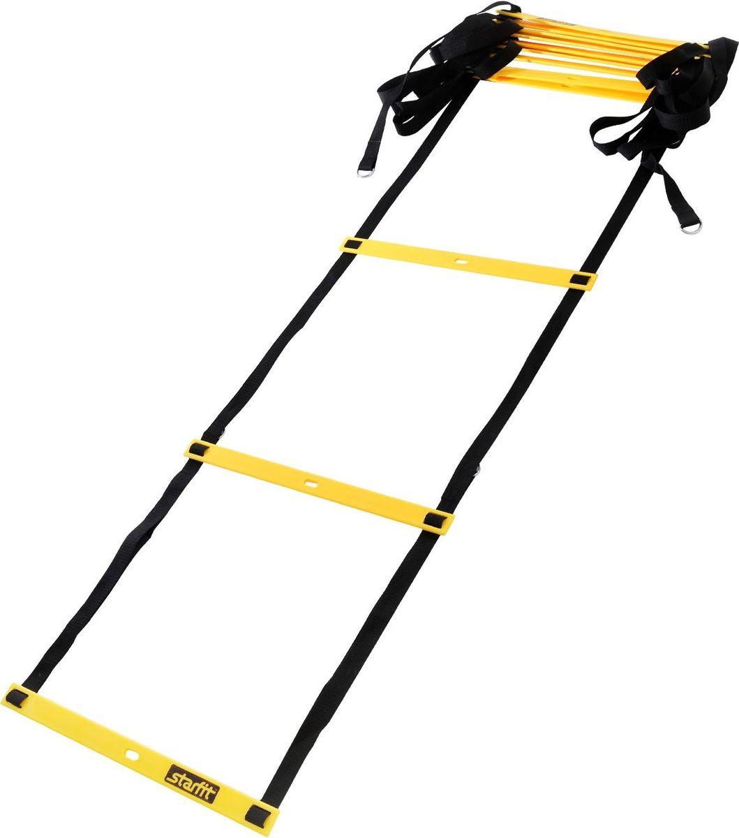 """Лестница координационная Starfit """"FA-601"""", цвет: желтый, черный, 6 м  #1"""
