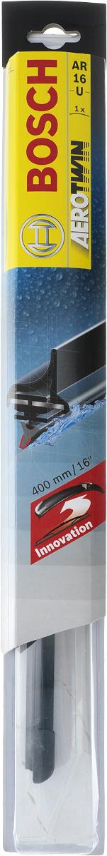 Щетки стеклоочистителя бескаркасная BOSCH Aerotwin retro AR16U, 400 мм, 3397006824  #1