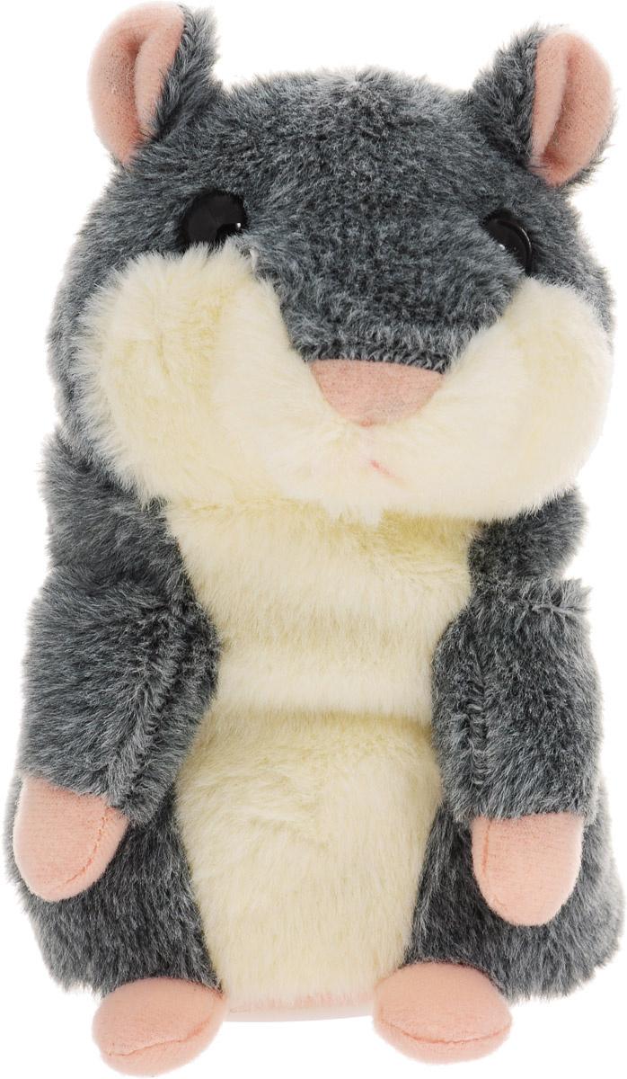 """Мягкая интерактивная игрушка Woody O'Time """"Хомячок"""", цвет: серый, 15 см  #1"""