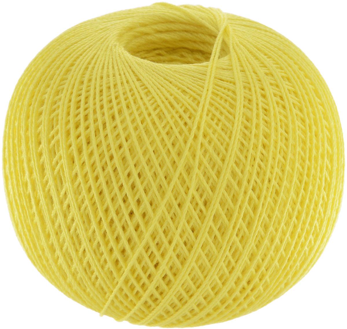 """Нитки вязальные """"Роза"""", хлопчатобумажные, цвет: лимон (0204), 320 м, 50 г, 6 шт  #1"""