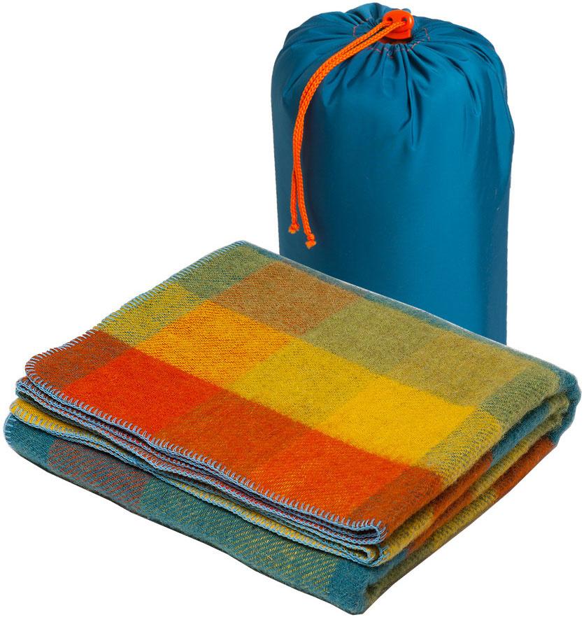 "Плед Руно ""Пикник"", цвет: синий, желтый, оранжевый, 140 х 140 см. 7-600-140 (0202)  #1"
