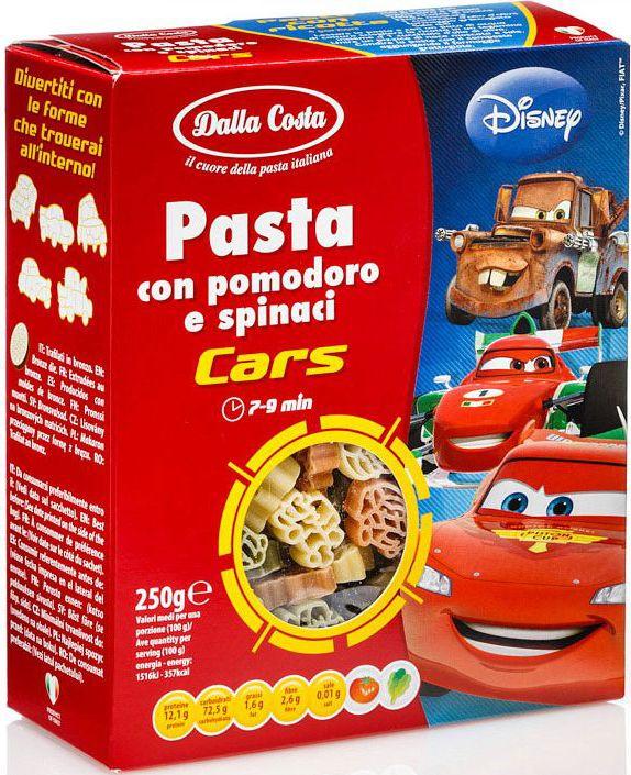 Dalla Costa Disney Фигурные Тачки со шпинатом и томатами, 250 г #1