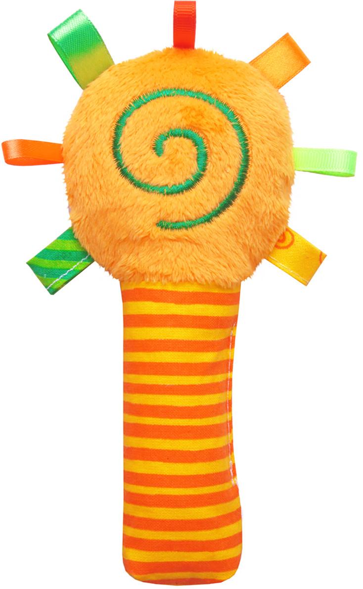 Мягкая игрушка-погремушка ШуМякиши Маракас (оранжевый), Мякиши  #1