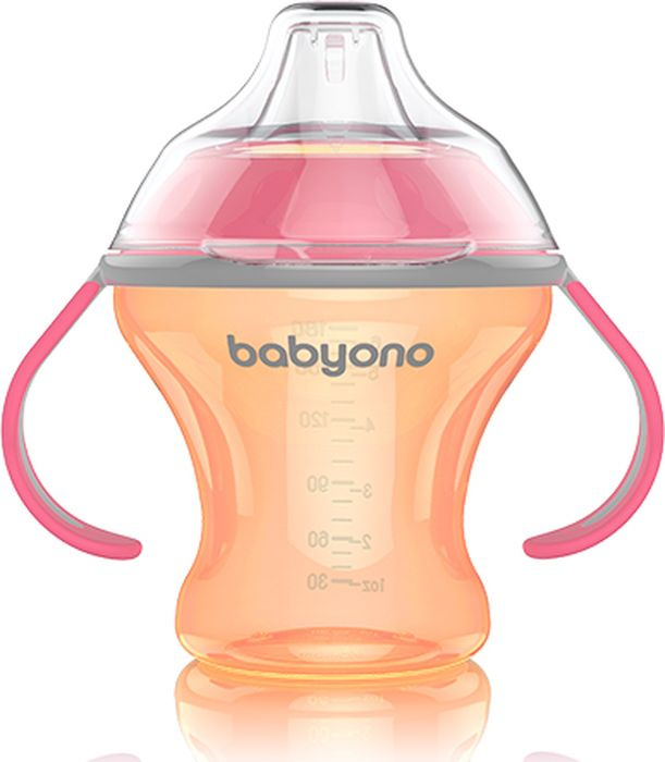 BabyOno Поильник непроливайка с мягким носиком 180мл. Natural Nursin  #1