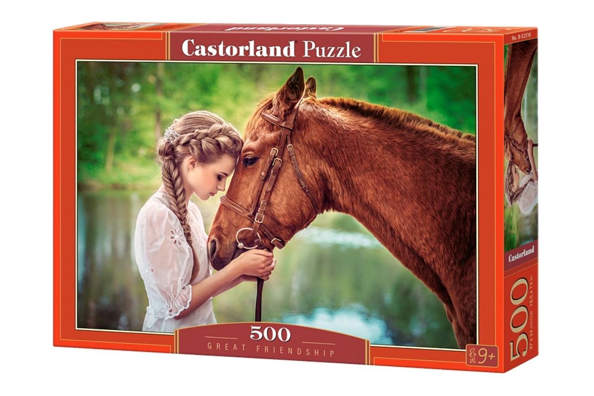 Castorland Пазл Девушка и лошадь #1