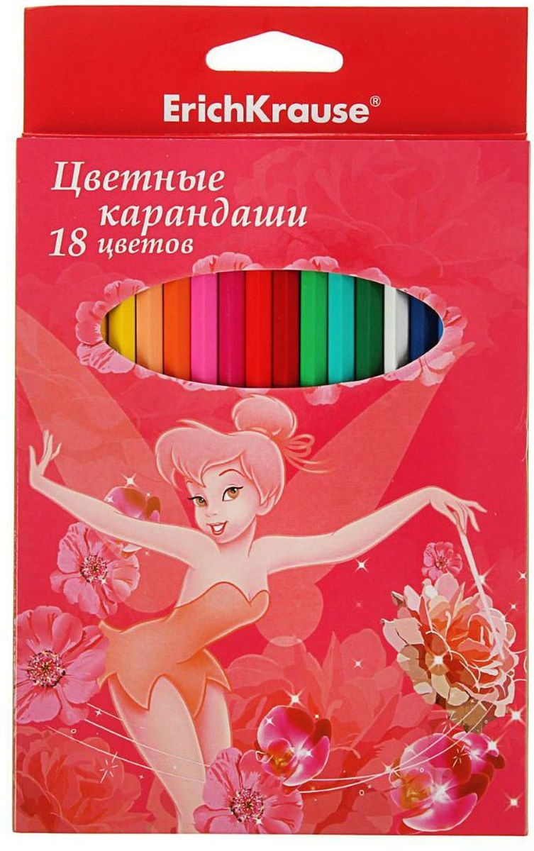 Disney Набор карандашей Tink Pink 18 цветов #1