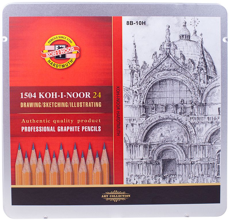 Набор чернографитных карандашей Koh-I-Noor 24 шт #1