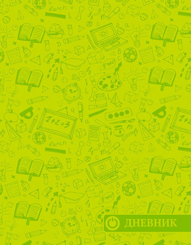 Апплика Дневник школьный Паттерн цвет салатовый #1