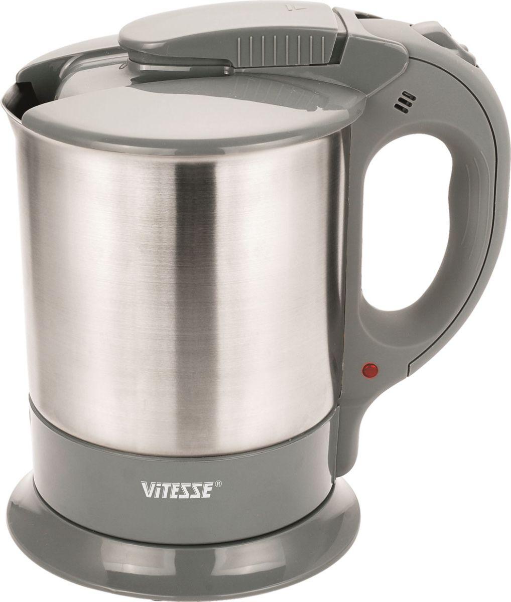 Электрический чайник Vitesse Vitesse VS-104 Gray Metallic, Черный-Серебристый  #1
