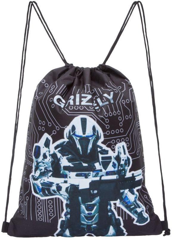 Grizzly Мешок для обуви цвет черный OM-770-1 #1