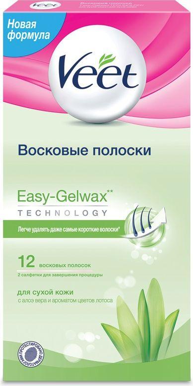 Veet Восковые полоски для сухой кожи c технологией Easy Gel-wax 12 шт  #1