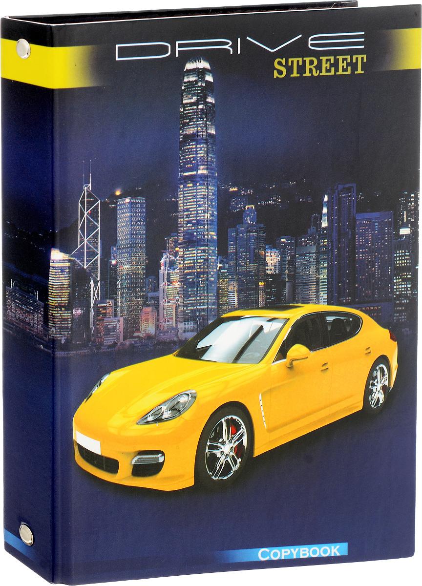 Феникс+ Тетрадь на кольцах Желтое авто 160 листов в клетку  #1