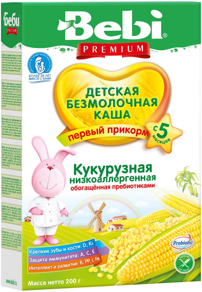 Bebi Премиум каша Кукурузная низкоаллергенная с пребиотиками, с 5 месяцев, 200 г  #1