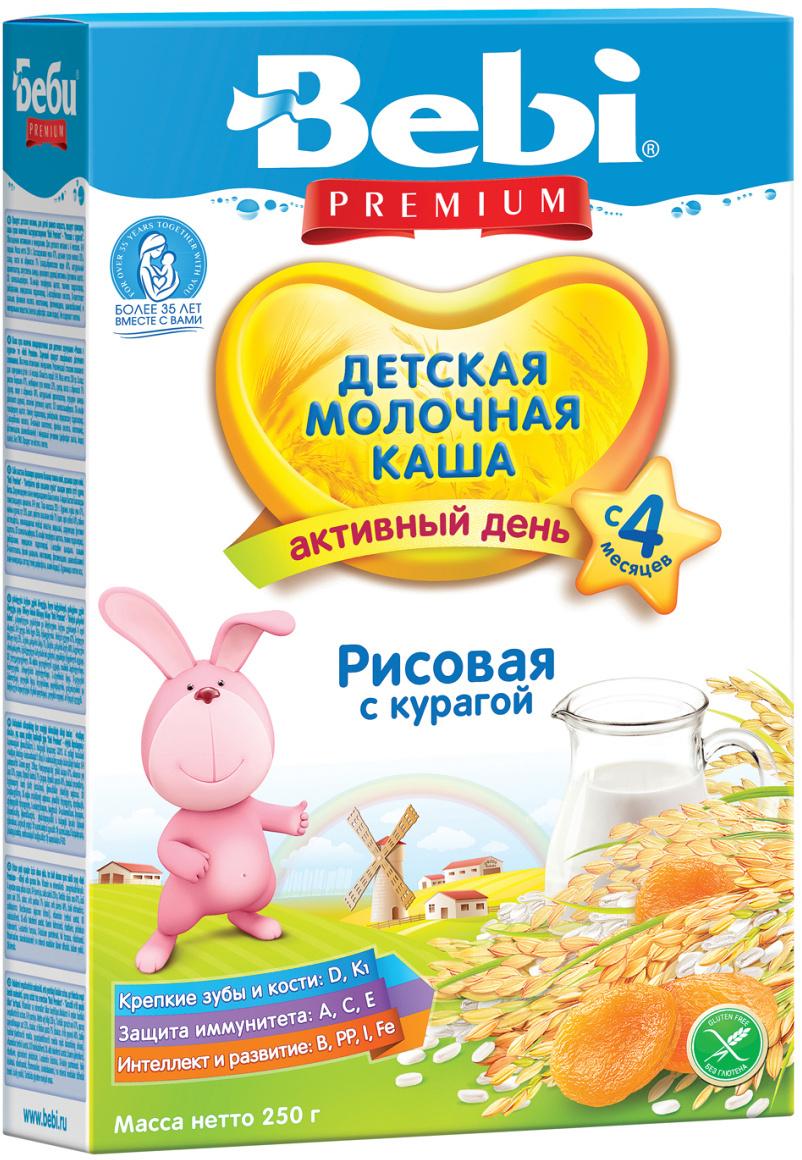 Bebi Премиум каша рисовая с курагой молочная, с 4 месяцев, 250 г  #1