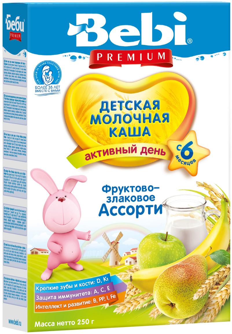 Bebi Премиум каша фруктово-злаковое ассорти молочная, с 6 месяцев, 250 г  #1