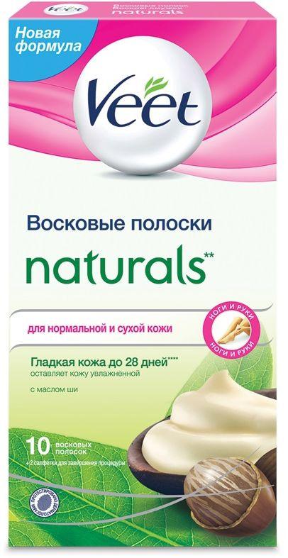Veet Восковые полоски Naturals с маслом ши серии c технологией Easy Gel-Wax, 10 шт  #1