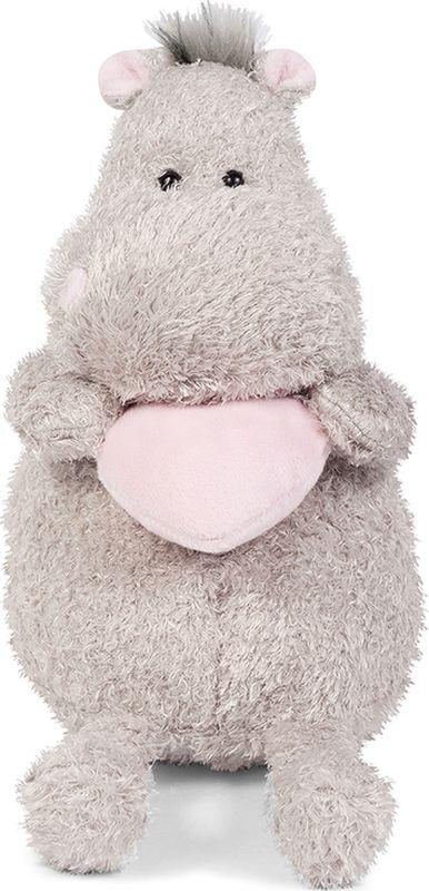 Maxitoys Luxury Мягкая игрушка Бегемот с розовым сердцем 20 см #1
